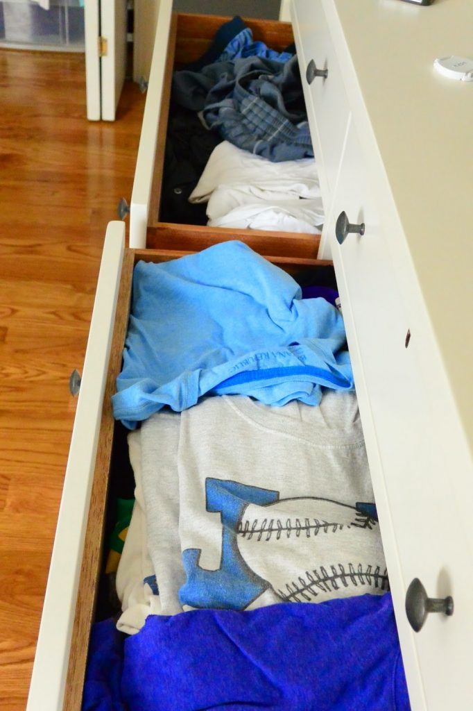 Keeping My Husband's Clothes Organized