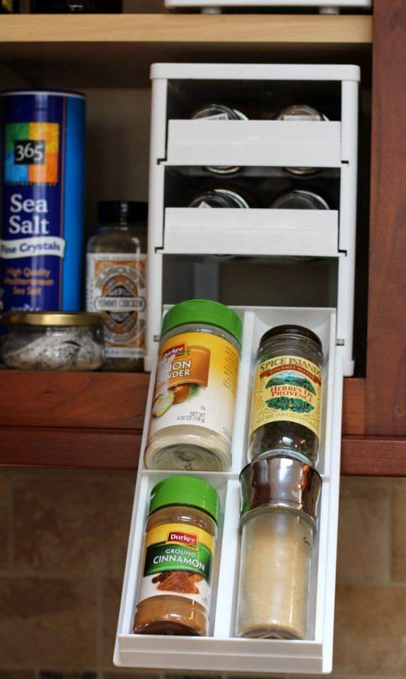 Spring Clean Up Challenge - Spices In Cabinet