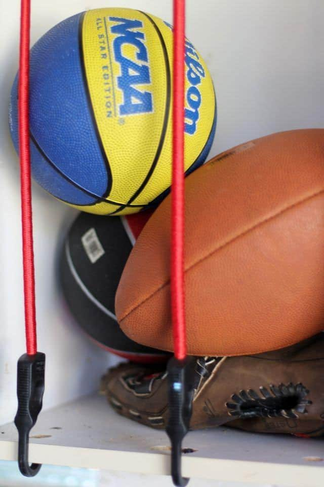 Ball Storage With Bungy Cords