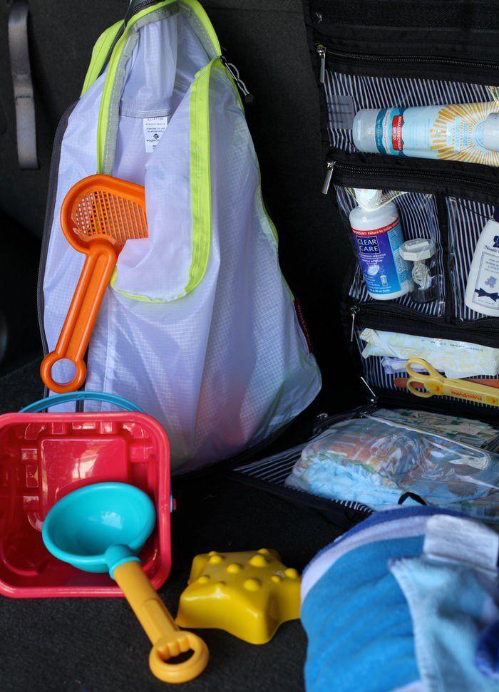 Keeping Your Car Organized With Kids - Beach Gear