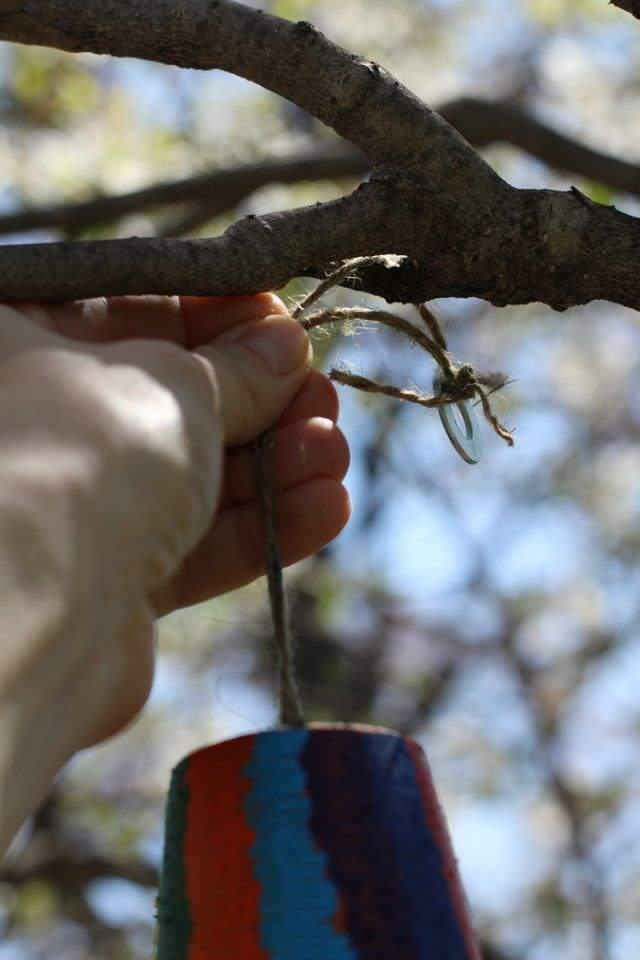 Terra Cotta Potter Wind Chime Tutorial - Hanging Tree