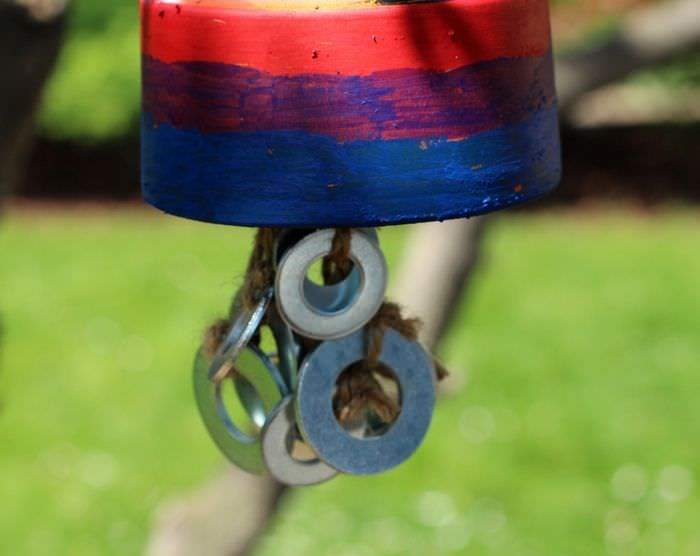 Terra Cotta Potter Wind Chime Tutorial - Washers