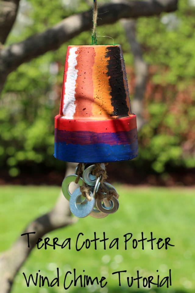 Terra Cotta Potter Wind Chime Tutorial
