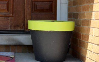 DIY Chalk Paint Terra Cotta Planters