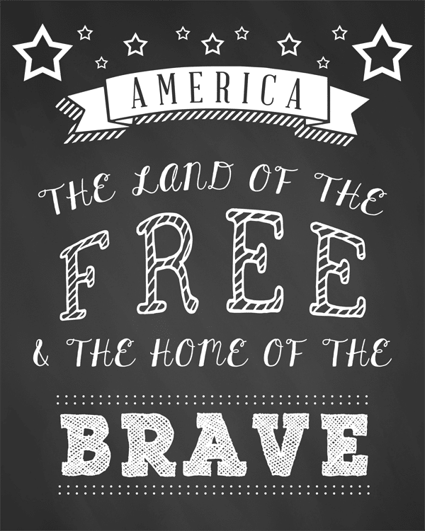 Fourth Of July Ideas - Land Of Free Printable