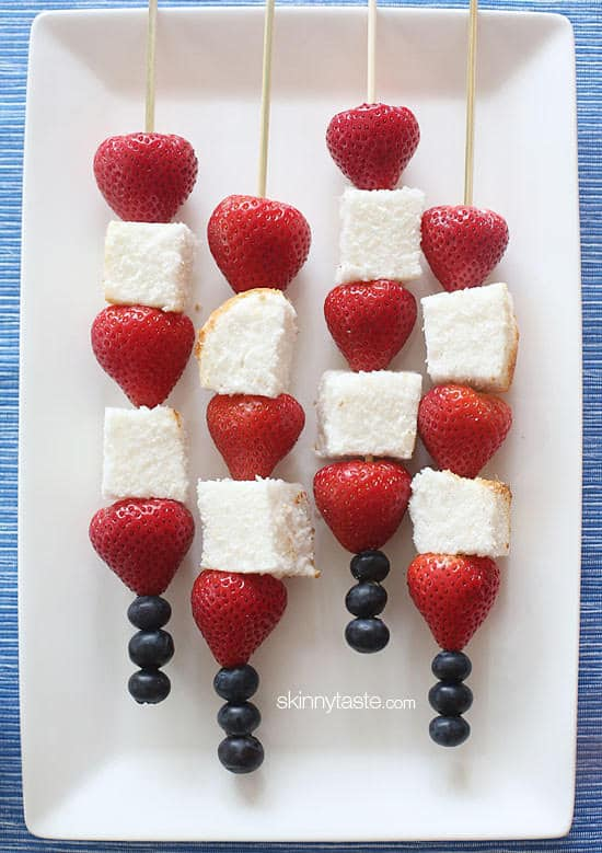 Fourth Of July Ideas - Red White And Blue Skewers