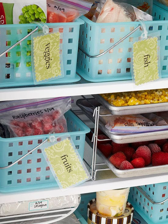 Organizing the Kitchen and Lunch Prep Ideas - BHG Freezer Organization