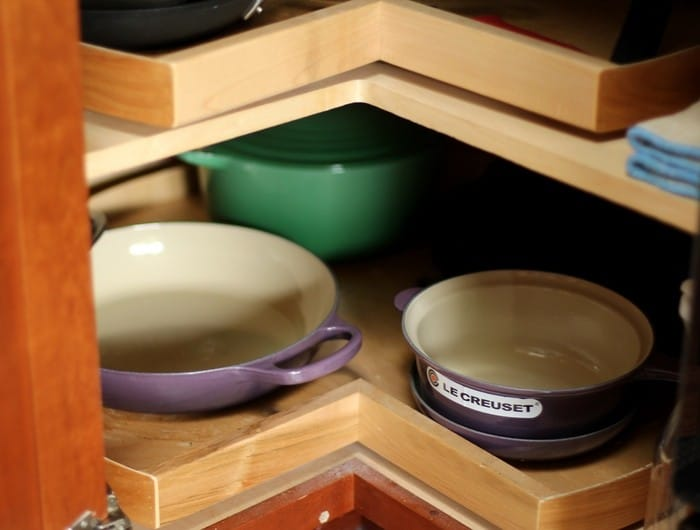 Organizing the Kitchen and Lunch Prep Ideas - Corner Cabinet