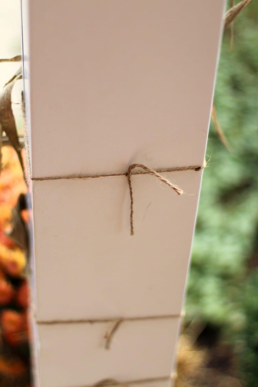 Fall Door Decor - Corn Tied With Twine