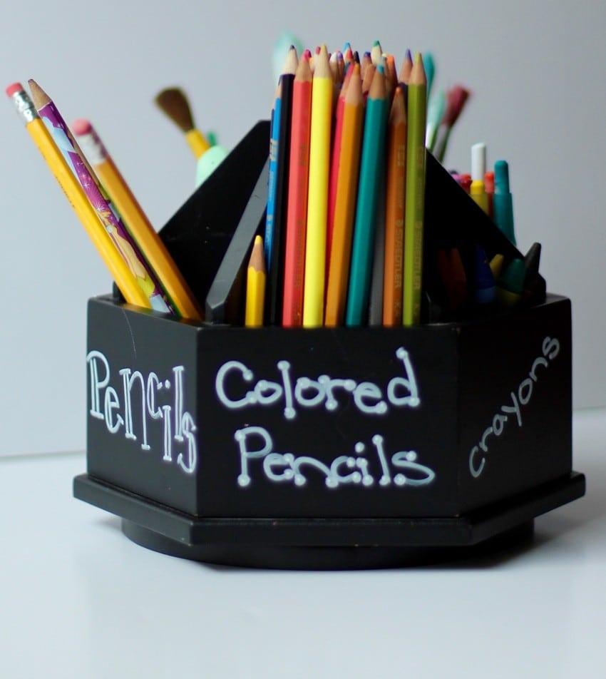 Organizing Kids Crafts - Coloring Caddie