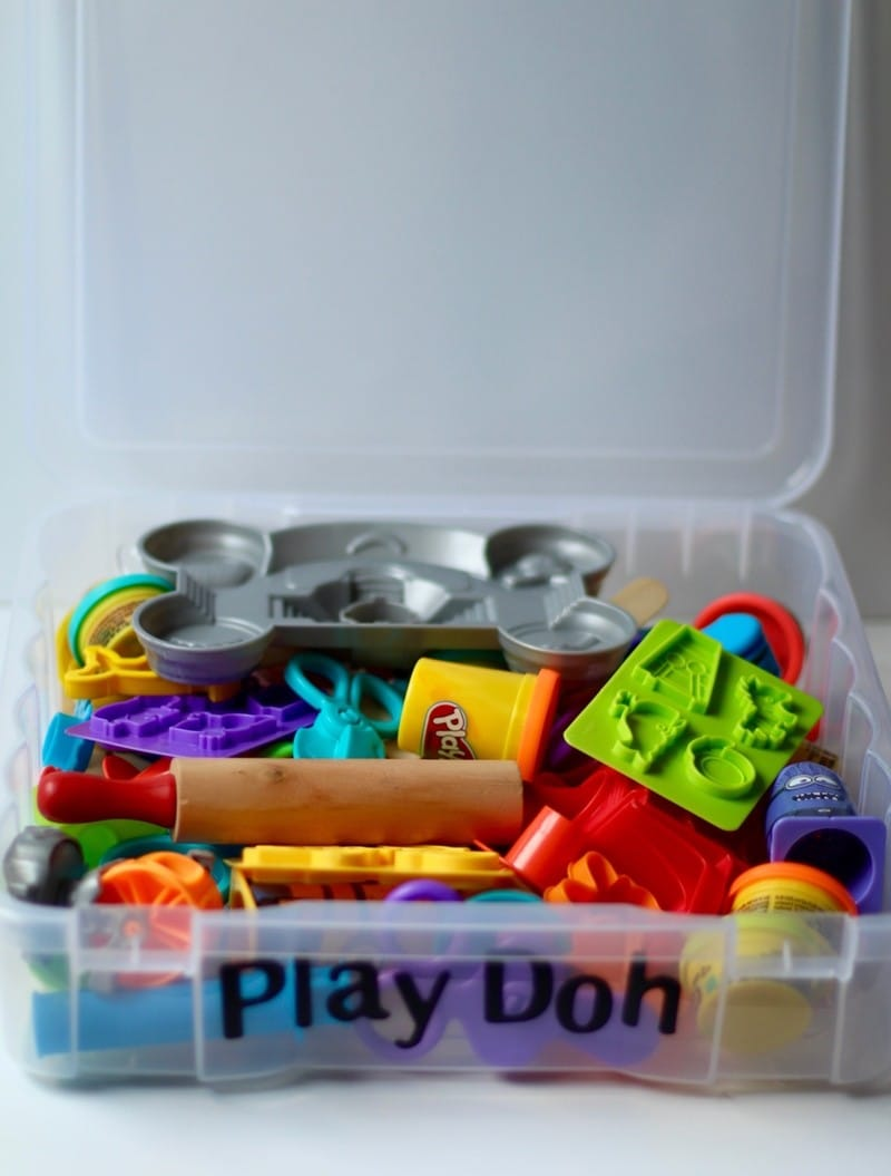 Organizing Kids Crafts - Play Doh Storage