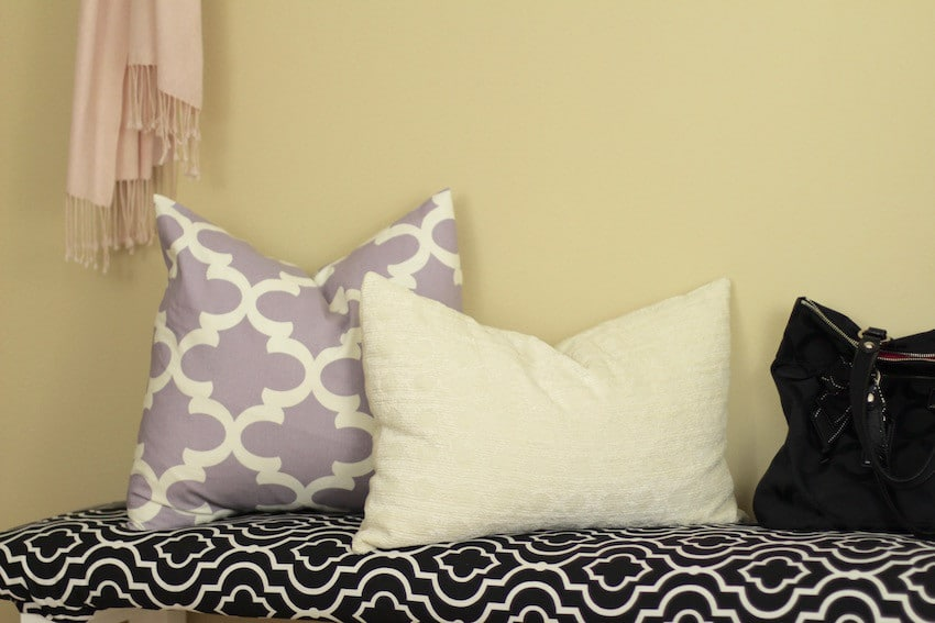 Upholstered Bench Cushion Pillows