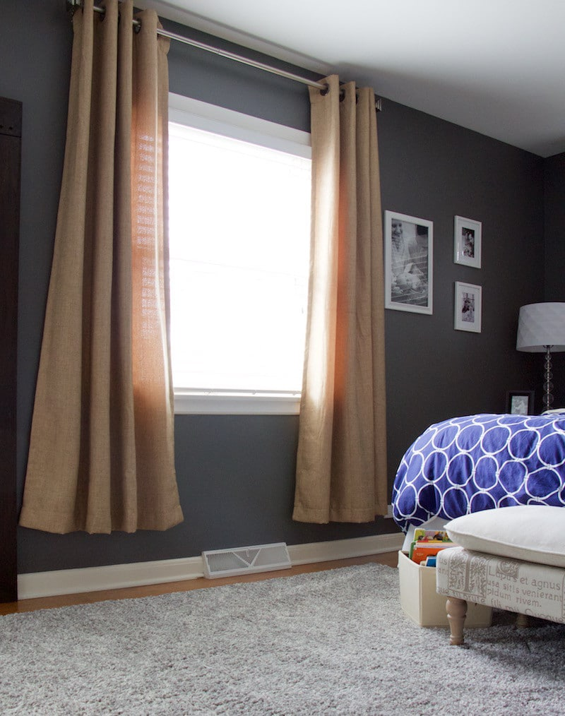Too short master bedroom curtains to represent the need to fix poorly-hung curtains #homedecor #curtains