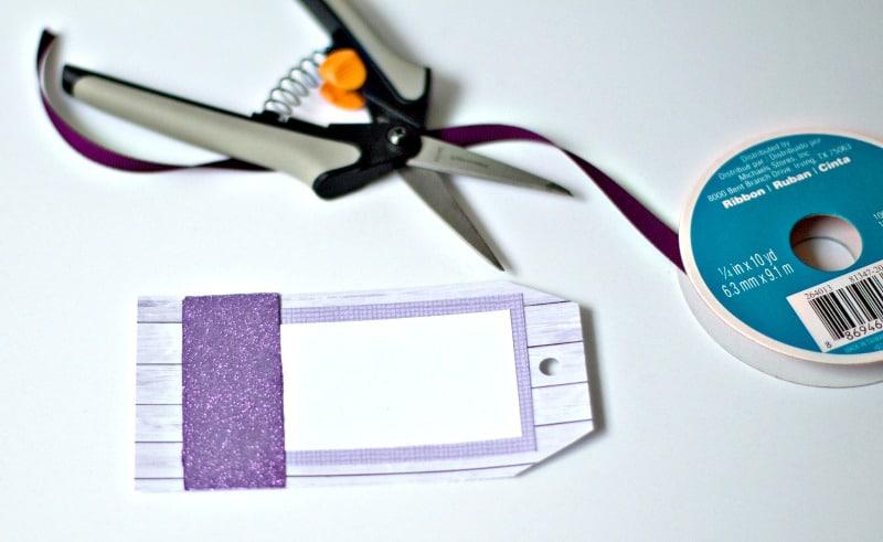 Glitter Label Ribbon