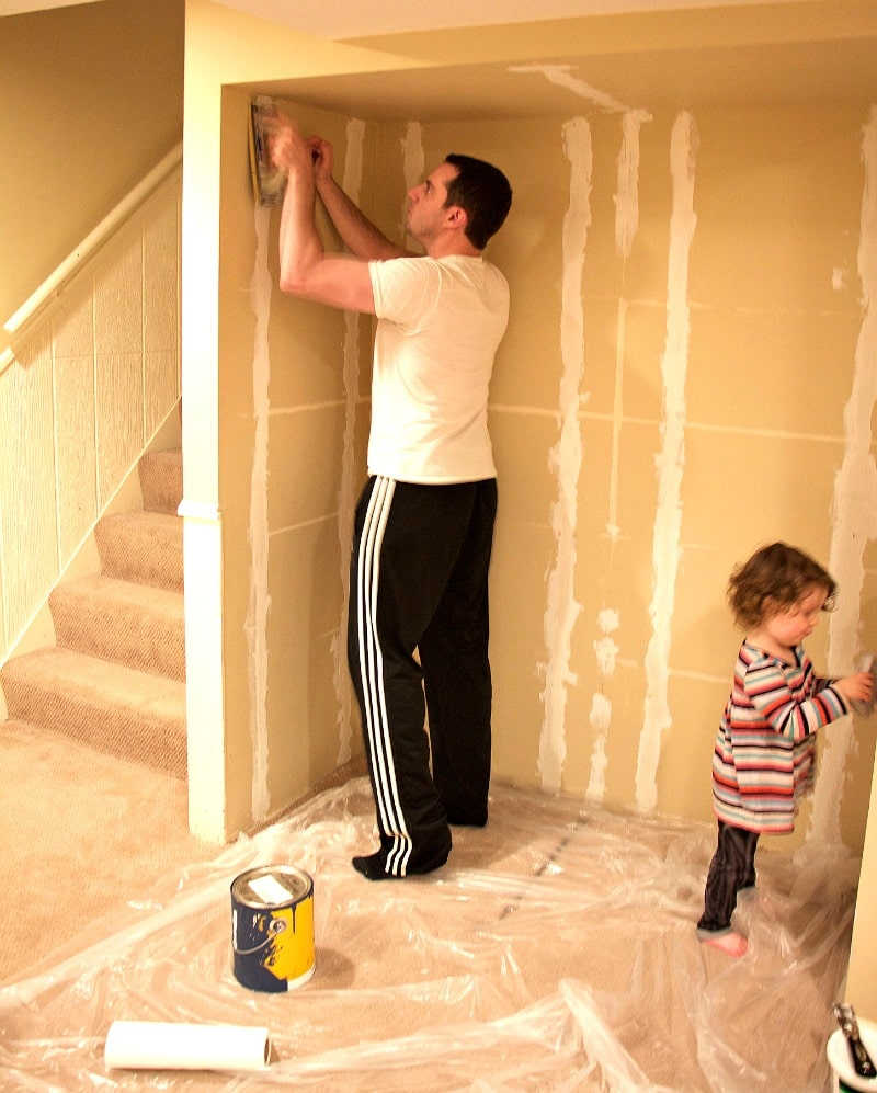 Patching And Sanding Nook
