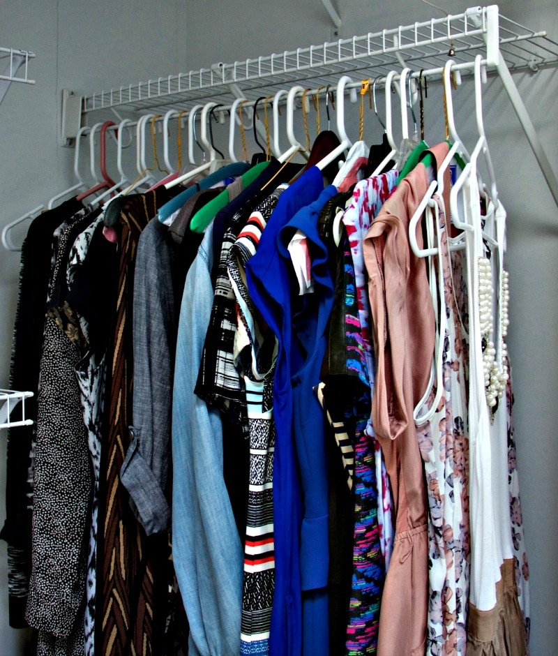 Dresses Closet hanging by color
