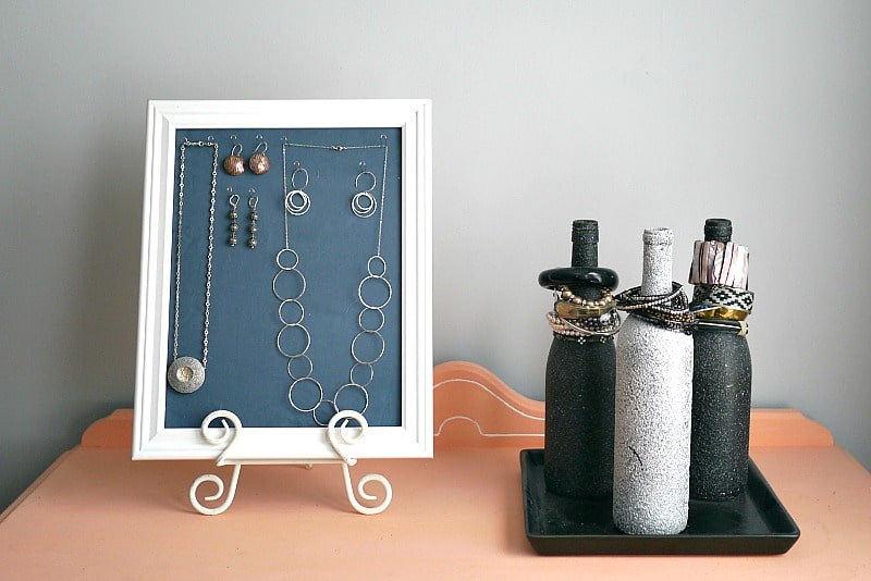 Jewelry Display and Bottles