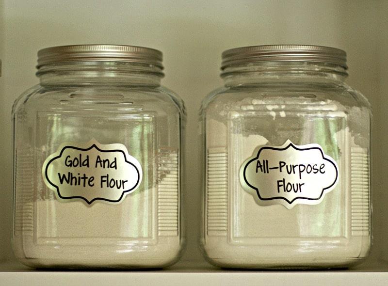 Silver foil labels on jars #labels