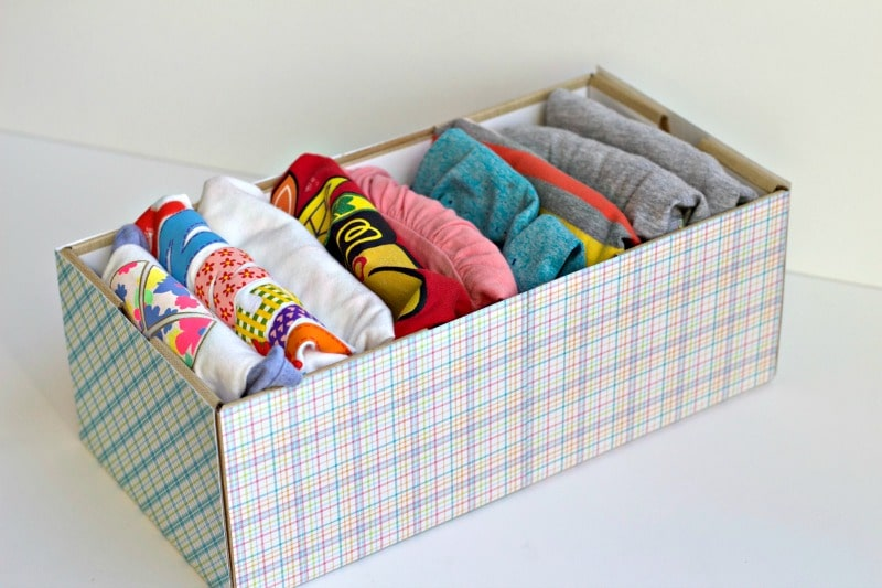Shirts folded vertically in decorated box #folding
