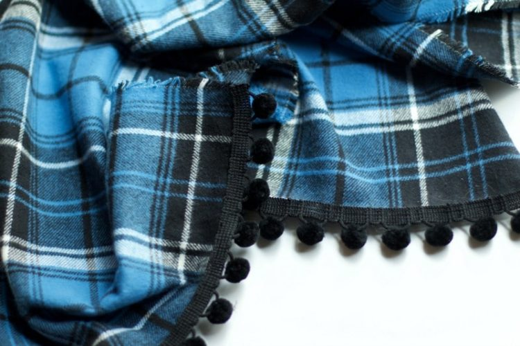 Finished blue plaid table runner #diy