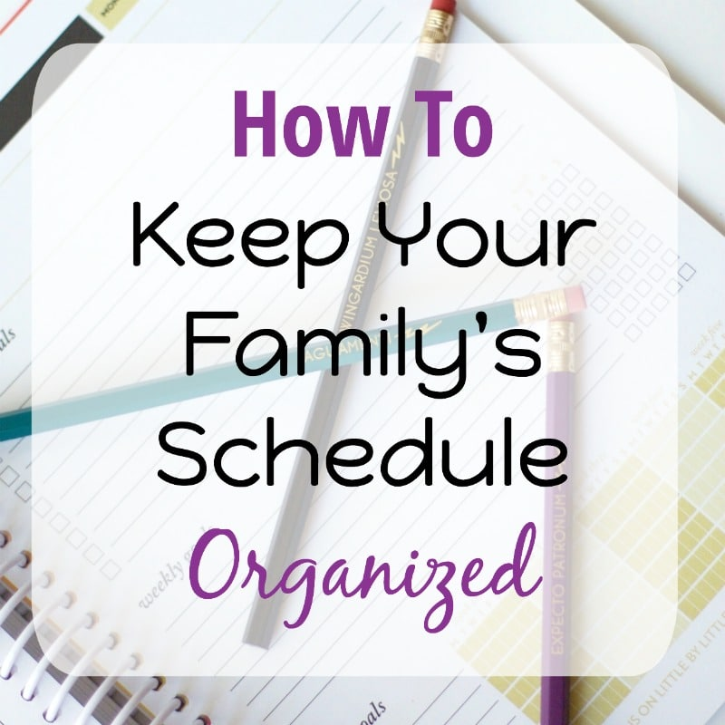 family-schedule-organized