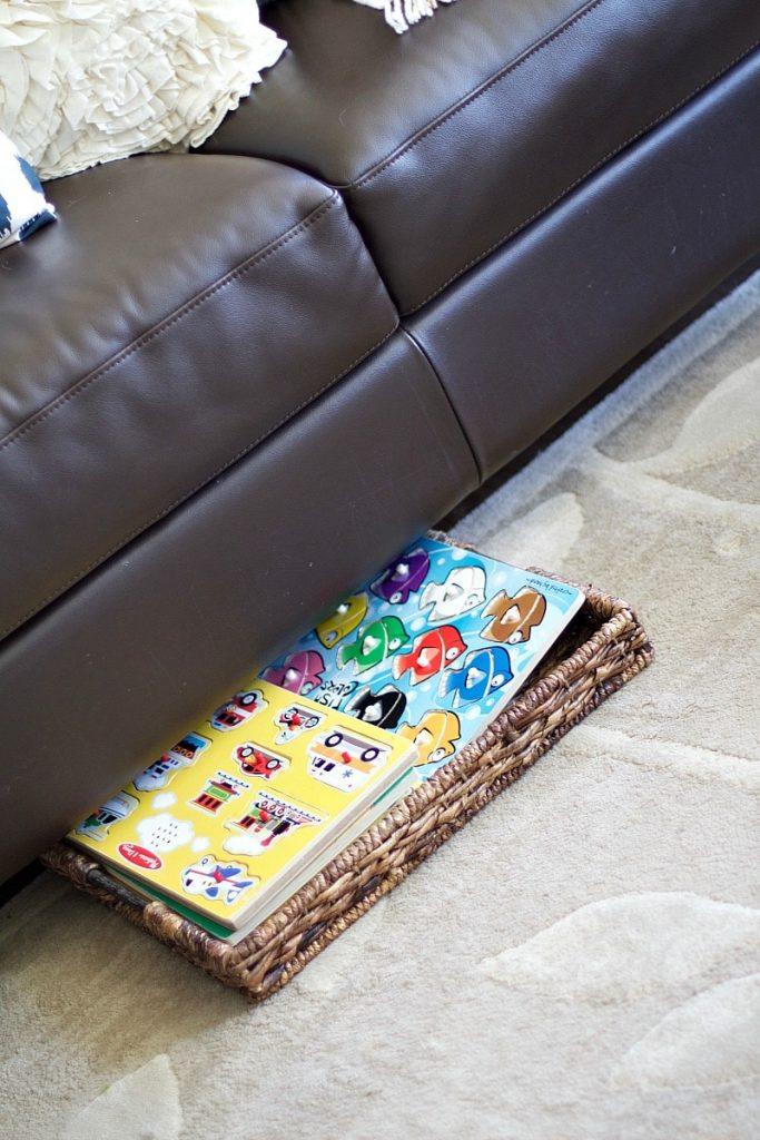Baskets Under Couch