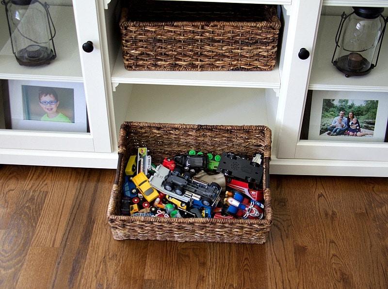 Toys In Bins Storage