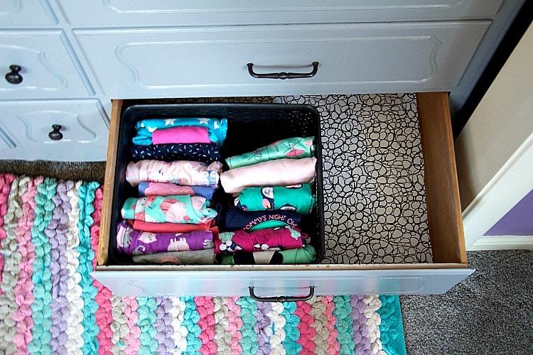 kids pj drawer organization in kids dresser drawers