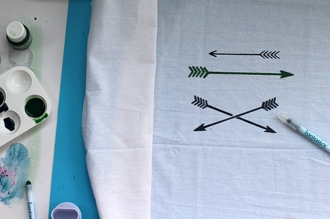 Arrow Tea Towel DIY