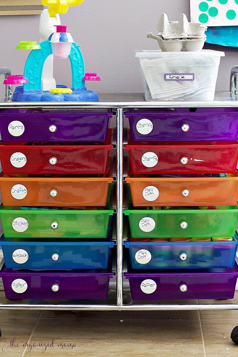 Organizing Art Supplies For Kids