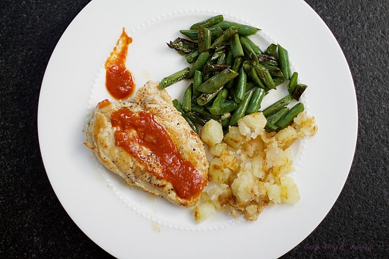 organizing family meal plans with home chef chicken meal