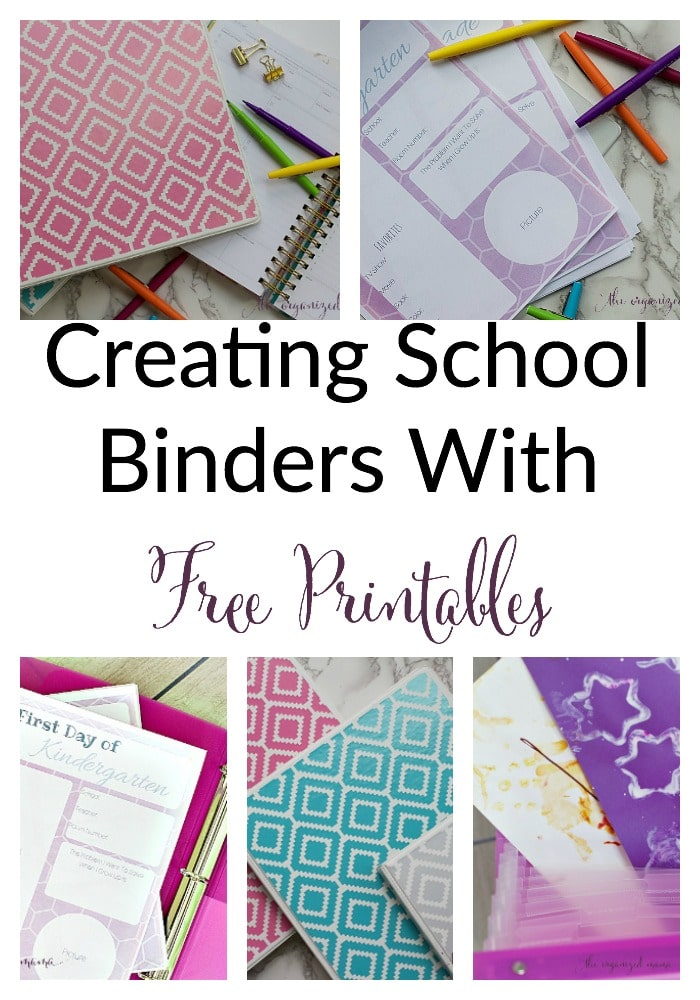 creating school binders with free printables