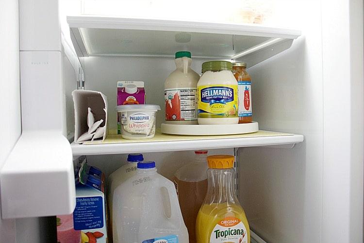 fridge coaster turntable dairy fridge organization
