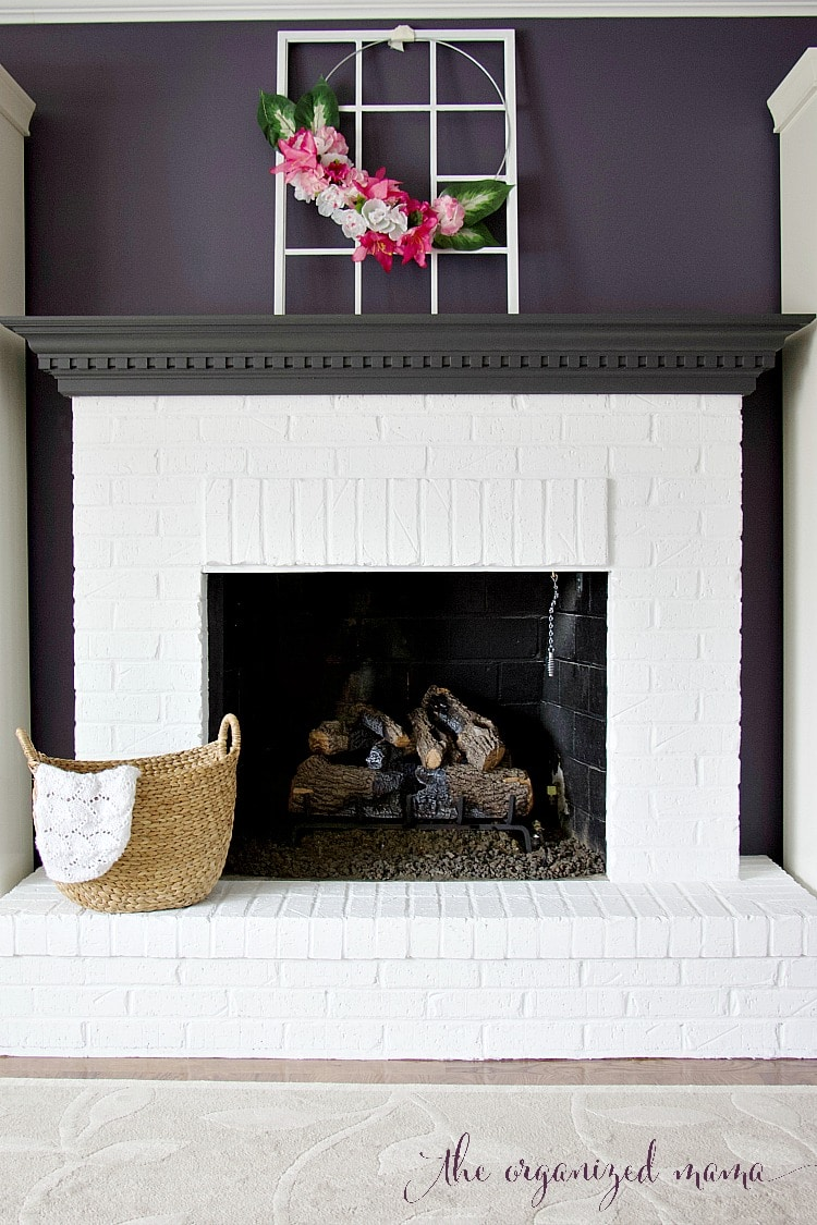 The Best Way To Create White Brick Fireplaces The Organized Mama