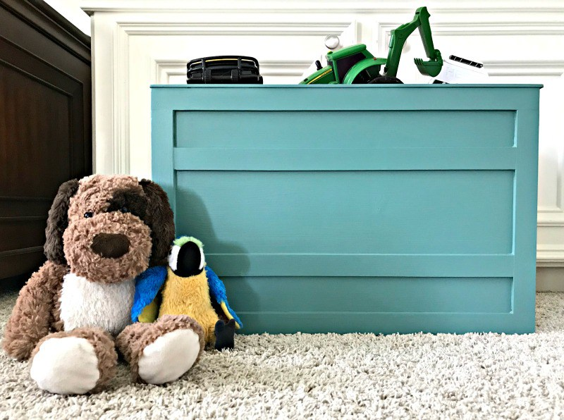 wooden toy storage crate diy image