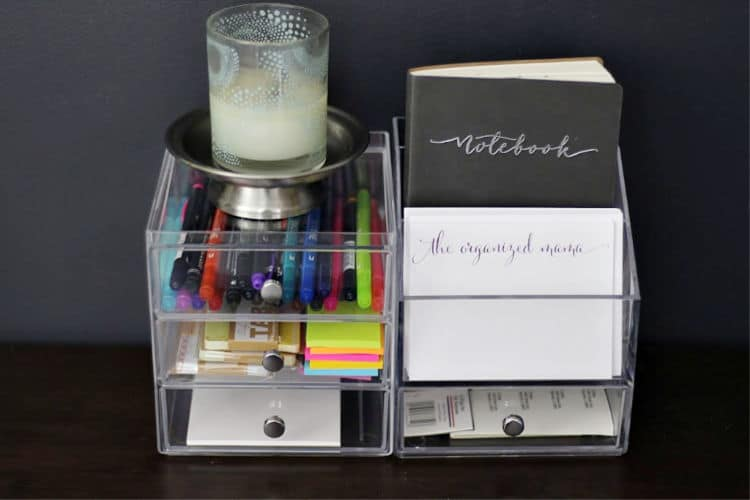 6 Quick And Easy Desk Organization Ideas From A Professional The Organized Mama