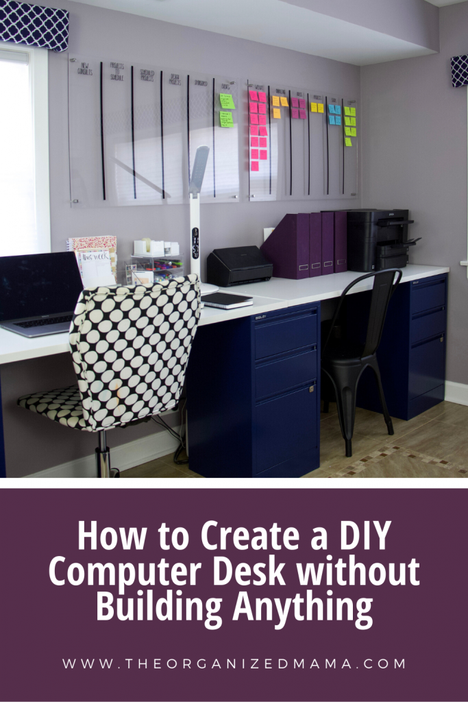 How to DIY Computer Desk without Building Anything #diy #diydesk