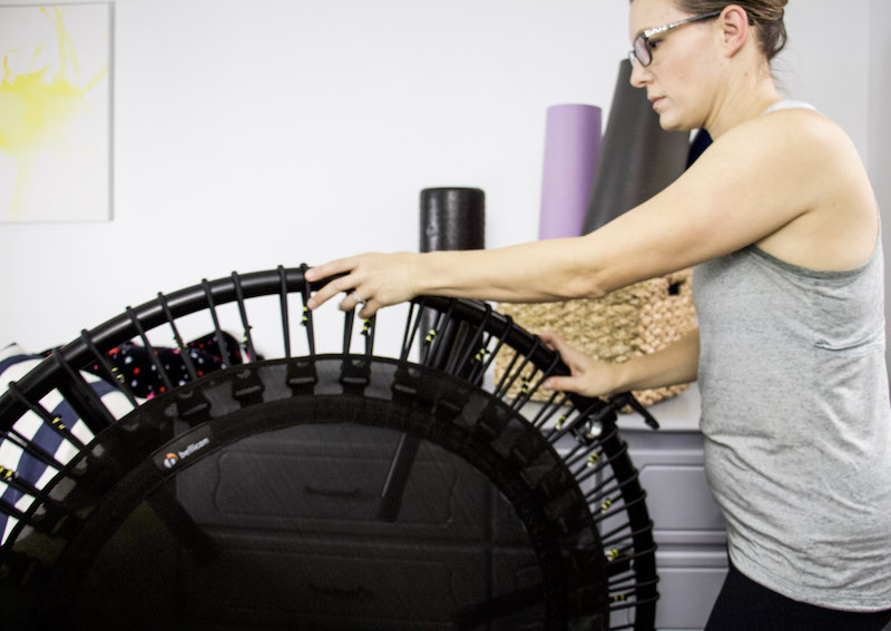 rolling bellicon rebounder to use in basement