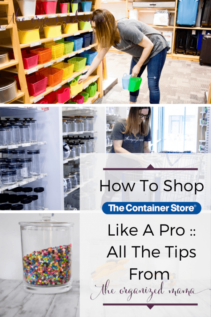Learn how to shop like a professional at the container store!