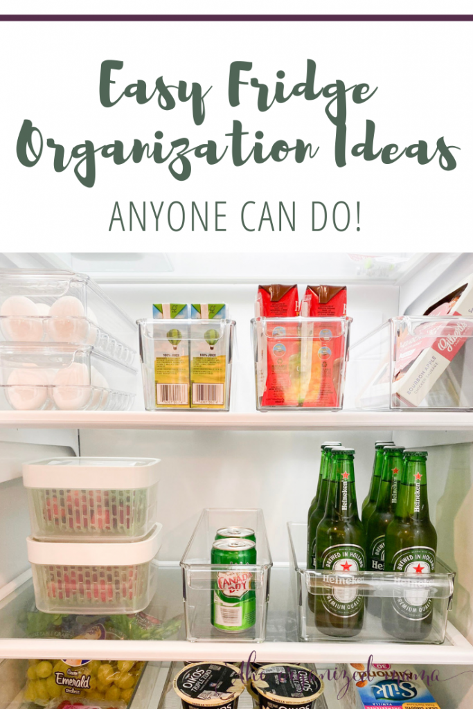 Easy fridge organization ideas anyone can do overly on fridge organized with bins and containers #fridge #organized