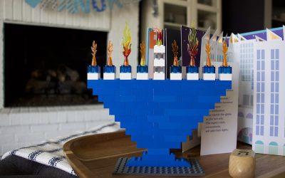 How To Make A Lego Hanukkah Menorah + Hanukkah Decor