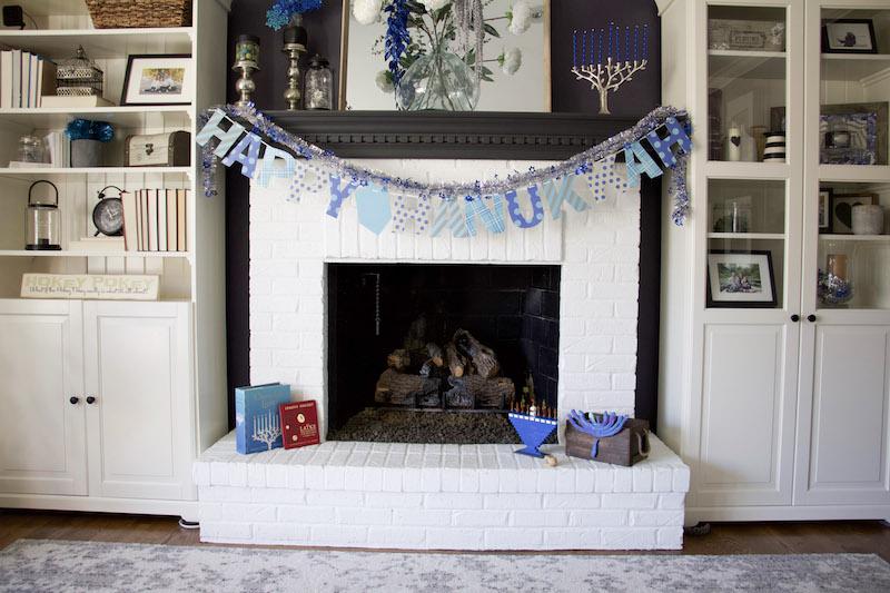 mantel decor hanukkah