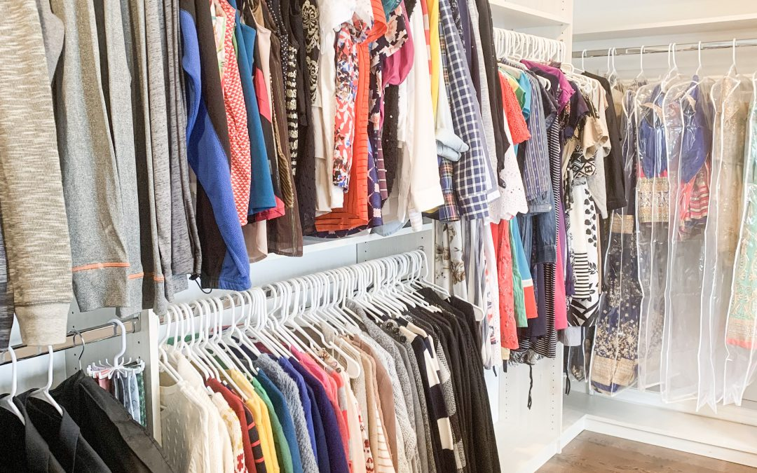 An Organized Closet to represent a capsule wardrobe.
