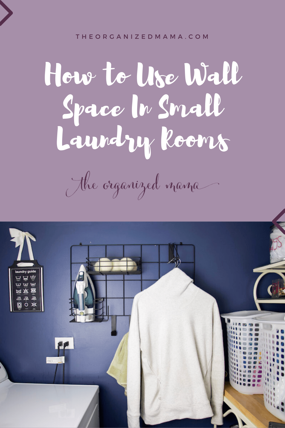 how to use wall space in small laundry rooms with the organized mama