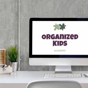 The Organized Kids Academy Mini Course on a computer screen