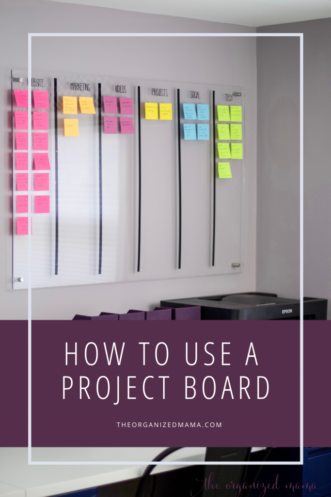 How to Use a Project Board pin #projectplanning