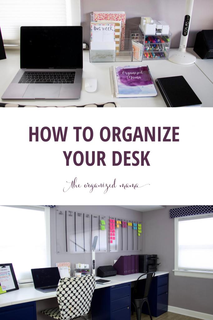 How to Organize Your Desk #deskorganization