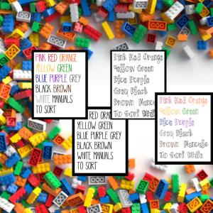 Lego labels bundle pack