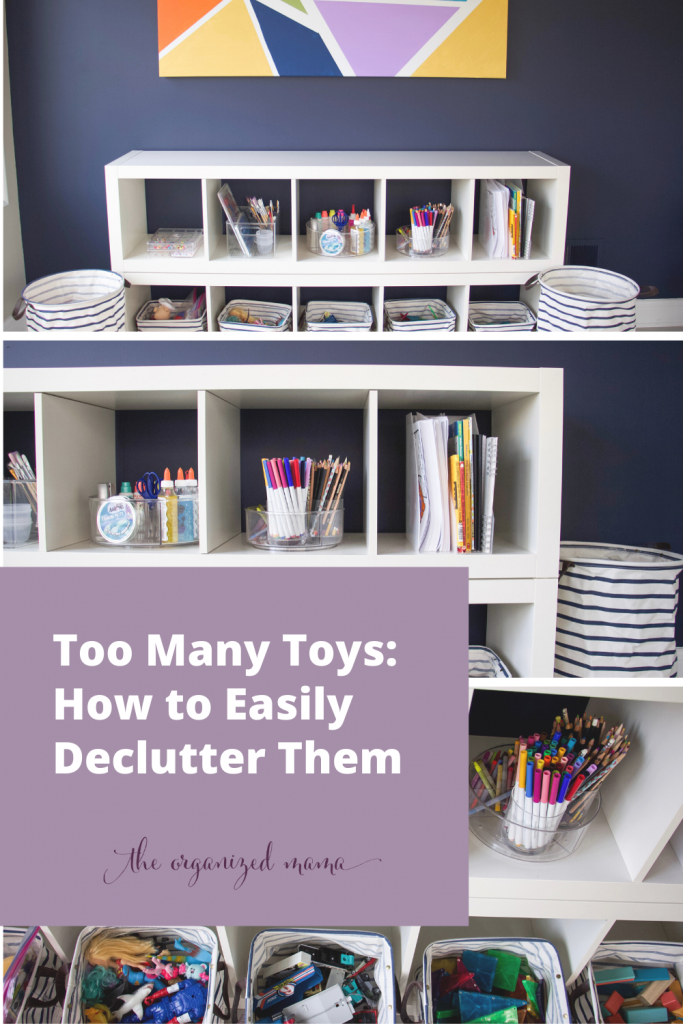 Too Many Toys: How to Easily Declutter Them #decluttertoys