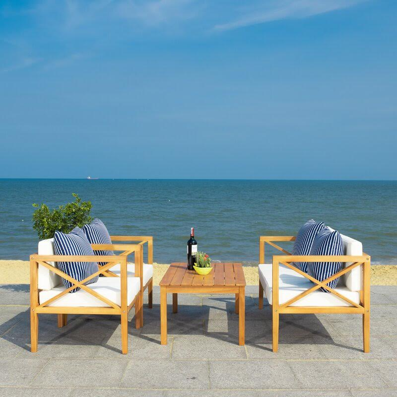 outdoor seating patio set from wayfair